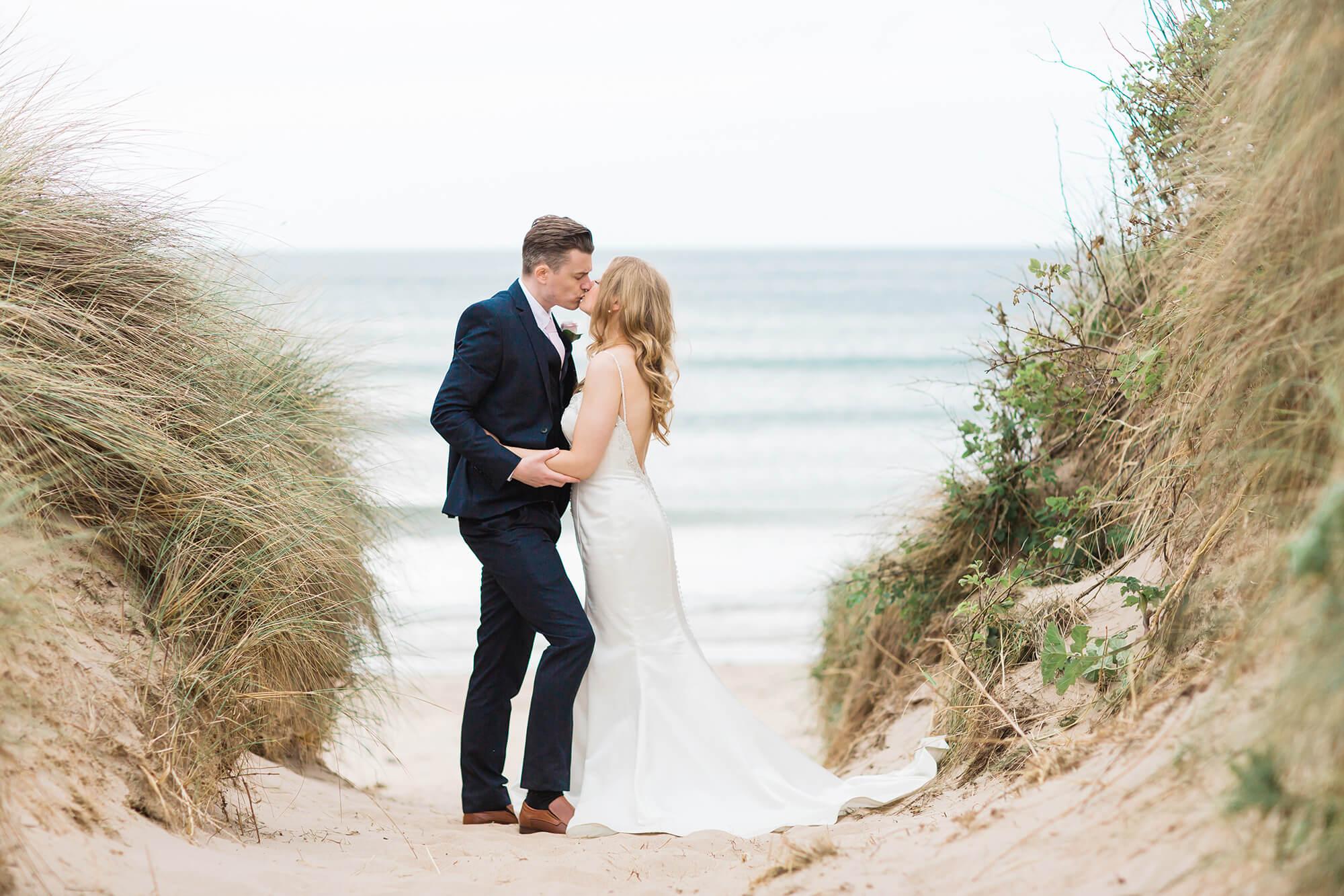 Wedding photography on a beach