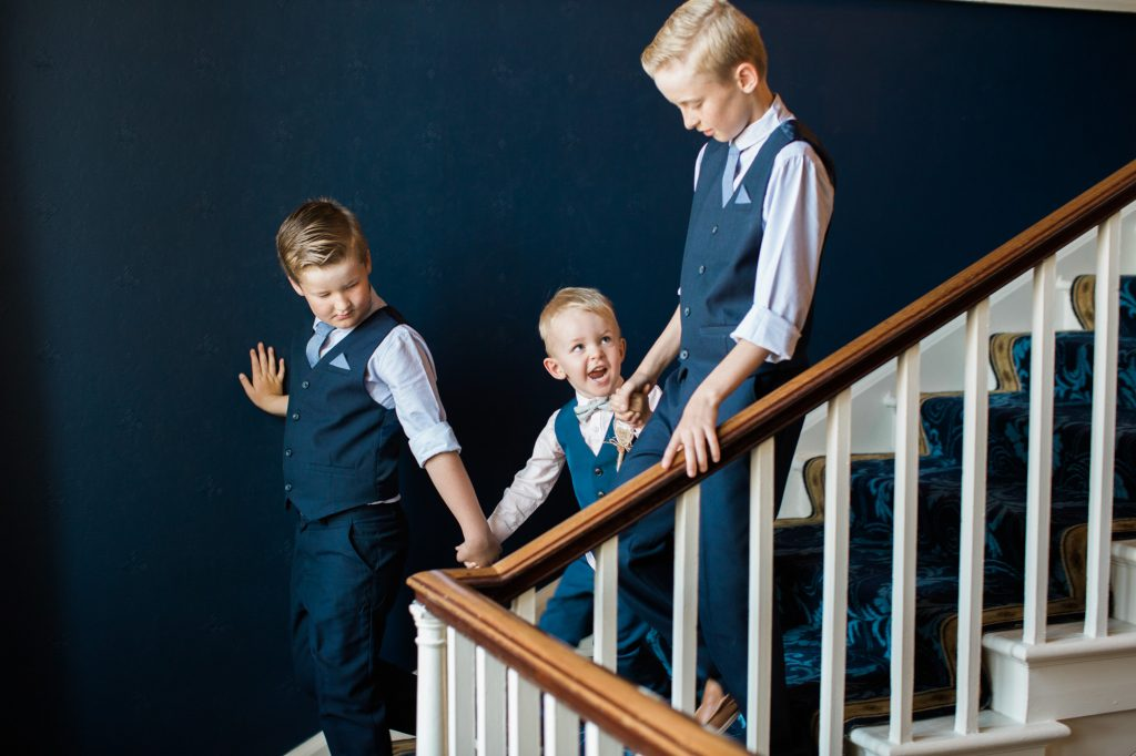 Pageboys make way to the ceremony