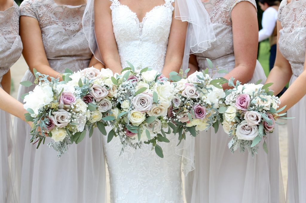 Bridal bouquets together