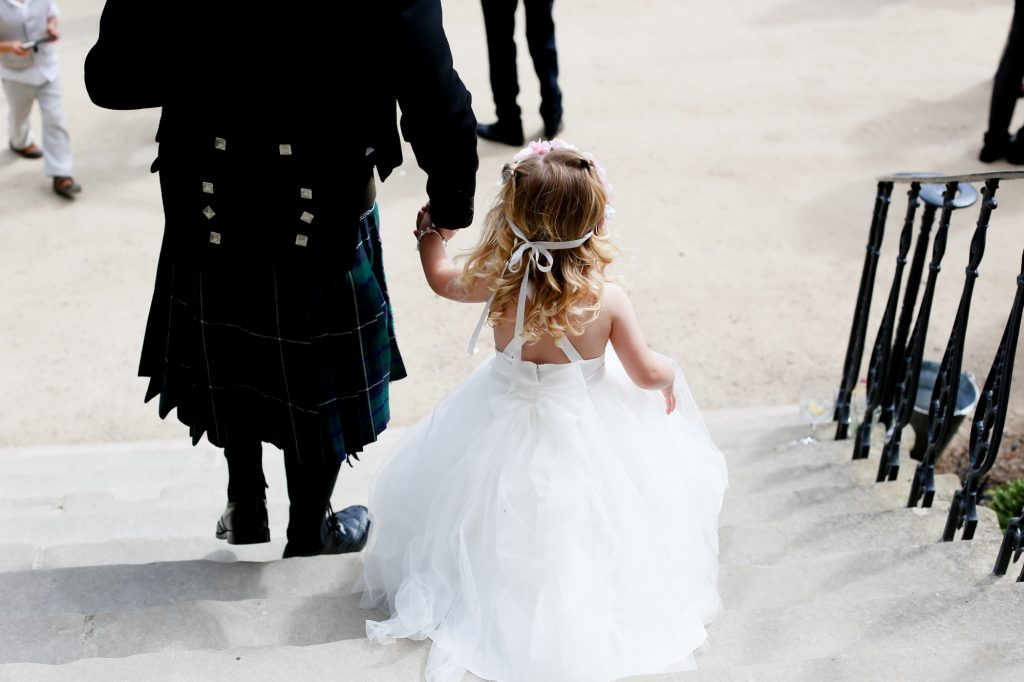 Flower girl makes way to ceremony
